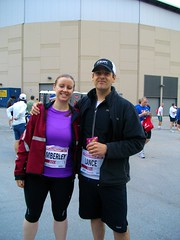 Kim & Lance - Before the Scotiabank Half Marathon 2011