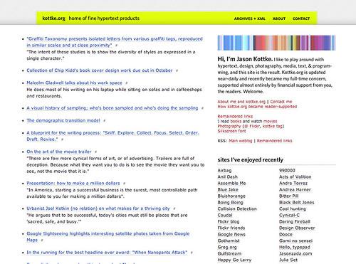 kottke.org, circa 2005
