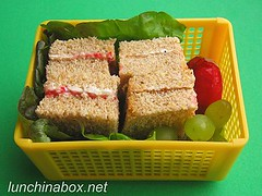 Mixed sandwich bento lunch for preschooler
