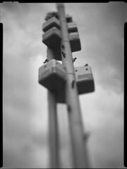 Praha babies (kadarlevente) Tags: blackandwhite sculpture cloud baby tower art tv babies prague gray perspective large prag praha frame 4x5 format concept norma tilt 9x12 prga sinar wideopen tiltshift dagor 130mm