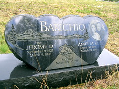bay center cemetery - bay center, wa (DeadManTalking) Tags: cemetery graveyard washington artwork headstone remembrance blackheart heartshape heartshaped gravemarker pacificcounty deadmantalking jeromebarichio ameliabarichio
