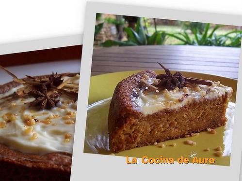Torta de calabaza, zanahoria y manzana