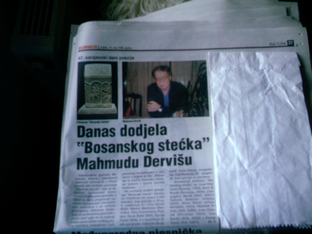 Mahmud Darviš Wins Bosnian Stečak!
