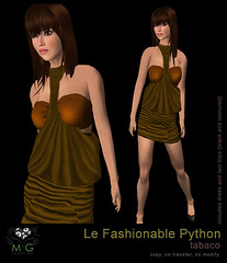 [MG fashion] Le Fashionable Python (tabaco)