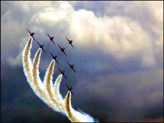 The Red Arrows (Amy Lloyd) Tags: sky cloud photoshop airshow explore sell southend redarrows mywinners