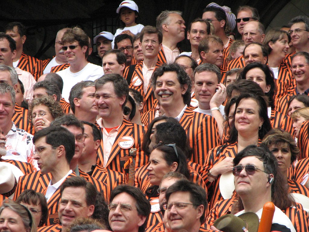 TigerHawk and a roommate at the class picture at Blair
