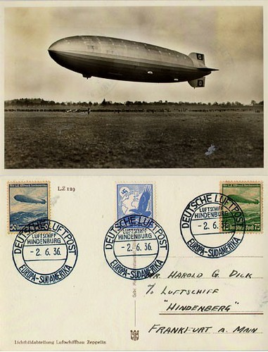 Postal del Hinderburg-1936