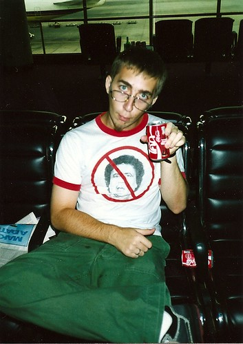 Me in the (old) Bangkok airport, 1996 (back in my more radical days, when the goatee was just beginning to grow)