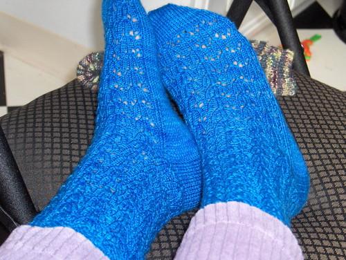 Floral lace socks