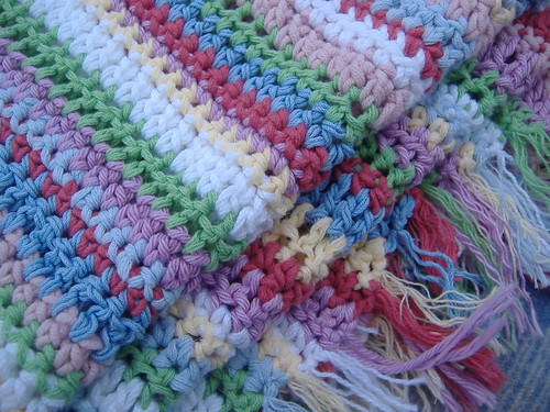 baby afghan (closeup with tassel)