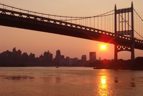 heatwave sunset; Astoria Park