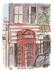 phone box on hampstead high street