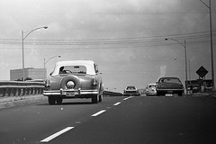 1953-1954 Packard Caribbean-Central Expressway Dallas-1972 (ak5x) Tags: bw dallas texas trix 1972 centralexpressway 19531954packardcaribbean