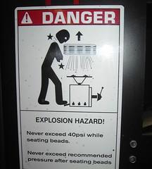 Tire Machine will KILL you (suzybruisy) Tags: warning stickfigure tiremachine