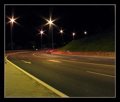 La curva (© Delsool) Tags: luces nocturna curva caceres cruzadas cruzadasgold delsool