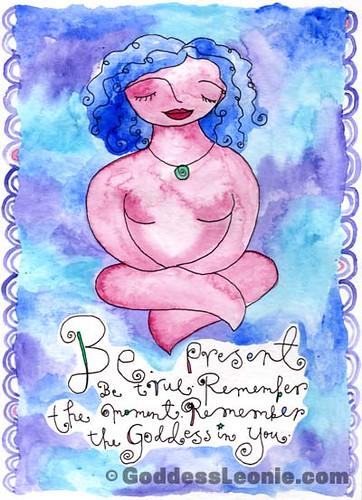 Be Present: Art print