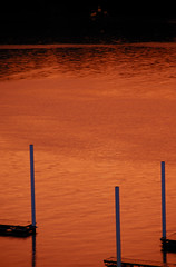 Empty Boat Slips at the Cork Factory Marina in Pittsburgh (marantzer) Tags: sunset digital docks nikon pittsburgh dusk pennsylvania d200 dslr stripdistrict dx alleghenyriver boatslips afsdxvrzoomnikkor18200mmf3556gifed thecorkfactory marantzer