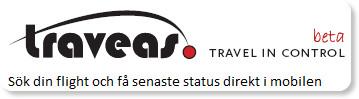 Sök efter ditt flyg och få senaste status direkt i mobilen. Traveas.com - den mest relevanta källan för flyginformation.