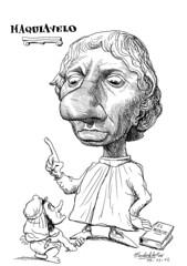 MAQUIAVELO, Niccolò (Morales de los Ríos) Tags: writers caricaturas philosophers caricatures escritores filósofos