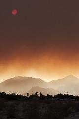 Piute Fire (David~O) Tags: sun canon landscape fire rebel scenery 300d desert smoke mojave sierranevada 2008 ridgecrest piute supershot kerncountyphotographers