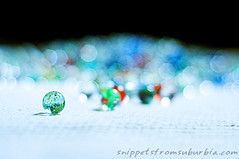 They were lost but now they're found... (snippets_from_suburbia) Tags: glass field bokeh marbles visual depth pun