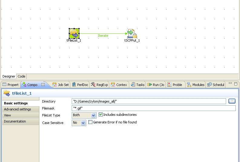 File transfer using tSCPPut (Page 1) / Open Data Integration - Usage