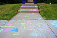 Kids Sidewalk Art