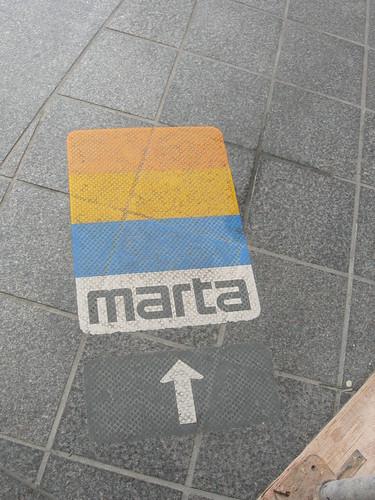 MARTA logo on street