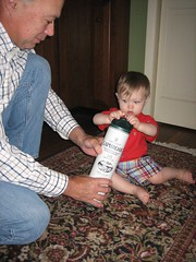 Grandpa K teaching H about Scotch