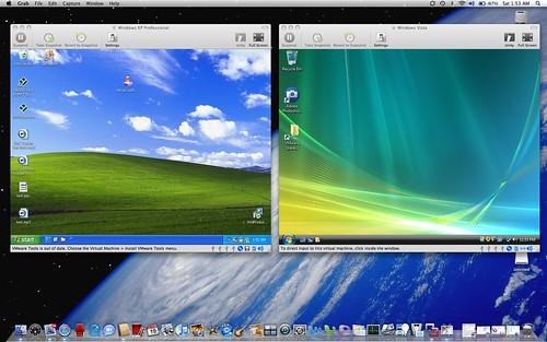 Windows XP N Vista Didalam Mac Book Pro