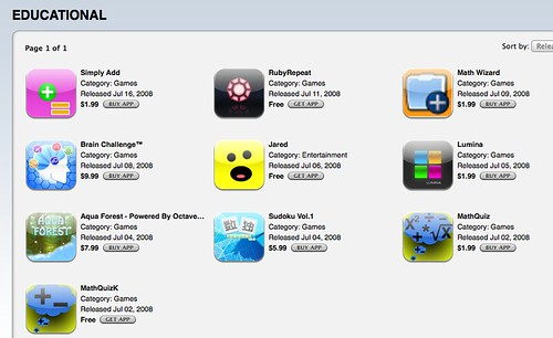 iPhone2.0 Educational Apps