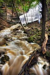 Sherman Falls HDR (Rick Stemmler) Tags: city trees urban ontario canada fall nature water canon hamilton rick waterfalls photowalk hfg ancaster rickstemmler hamiltonflickrgroup hamiltonwaterfalls