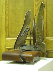 "<p>Title: ""Striving for Peace""<br/>Sculptor: Mac Gimse<br/><br/>Accessible to Public: yes, indoors<br/>Location: Rolvaag Memorial Library<br/>Ownership: St. Olaf College<br/>Medium: Bronze<br/>Dimension: 15 inches high<br/>Provenance: In honor of Forrest Brown, Director of Libraries<br/>Year of Installation: 2003<br/>Physical Condition: Good</p>"