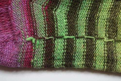 noro striped sock innards