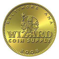 Wizard Coin Supply 2008 ANA token obverse