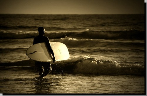 """Last Ride"" End of day Surfer by nikonkell Kelly Wade Photography"