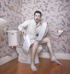 OH GOD! (aknacer) Tags: portrait self paper lol aaron toilet crap 365days strobist 1onexplore vision1000 visiongroup trianglestrobist aknacer vision100 aaronnace