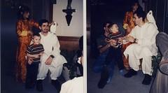 Uncle Tariq has a crazy bird (Wenchie LostElf) Tags: scan liam tariq photoscan oldphotoscan pakistaniwedding