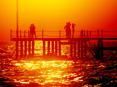 Beyond The Sunset (E.L.A) Tags: life travel sunset sea summer sky people orange holiday beach nature silhouette contrast turkey photography natural trkiye explore trkei antalya mostinteresting turkije turquia turkish tyrkiet gnbatm turchia blazing turkki turkei turkiet tyrkia tyrkland saariysqualitypictures mygearandmepremium