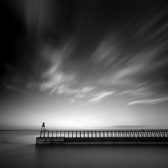 Whitby East Pier IV (Adam Clutterbuck) Tags: ocean uk longexposure greatbritain sea england blackandwhite bw cloud seascape west monochrome mouth river square landscape mono coast pier blackwhite cloudy unitedkingdom britain squares piers yorkshire bn east coastal shore elements whitby gb bandw sq limitededition northyorkshire esk greengage riveresk adamclutterbuck sqbw bwsq showinrecentset shortedition le50 limitededition50