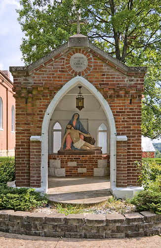 Saint John the Baptist Roman Catholic Church, in Villa Ridge (Gildehaus), Missouri, USA - shrine of Our Mother of Sorrows