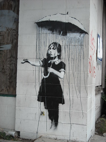 Banksy - It's Raining Grey Around Here