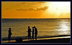 Sunset, Hawaii (navonco) Tags: ocean friends sunset sky sun reflection beach water clouds hawaii dusk loveit honolulu goodbye 1001nights digitalcameraclub wakikii visiongroup colourartaward thebestofday gnneniyisi 100commentgroup colorsinourworld loveitalwayscomment5