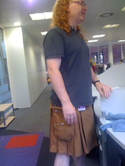 Christian in his kilt! (rajat.pandit) Tags: yahoo office kilt fancy christianheilmann fuerreserl