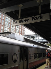 Metro North Train to New York arrives