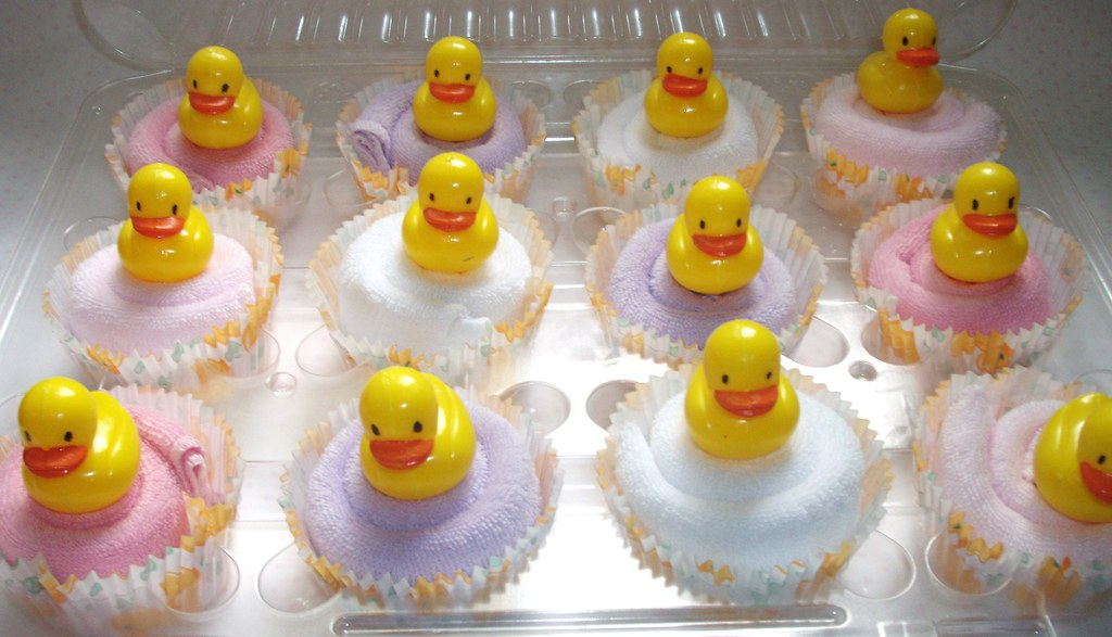 Girl Ducky Washcloth Cupcakes 02