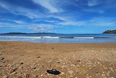 At Peace (Stellina.m ♪♪ (...illness)) Tags: blue sky beach water sand ripple shell anawesomeshot