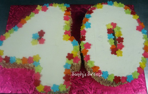 Hawaiian Theme Birthday Cake