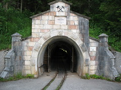 Eingang zum Salzbergwerk Hallstatt