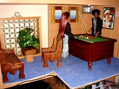 Shooting pool (em`lia) Tags: world rock miniature photo doll ooak barbie hotelcalifornia fr diorama reroot marikah rootedlashes